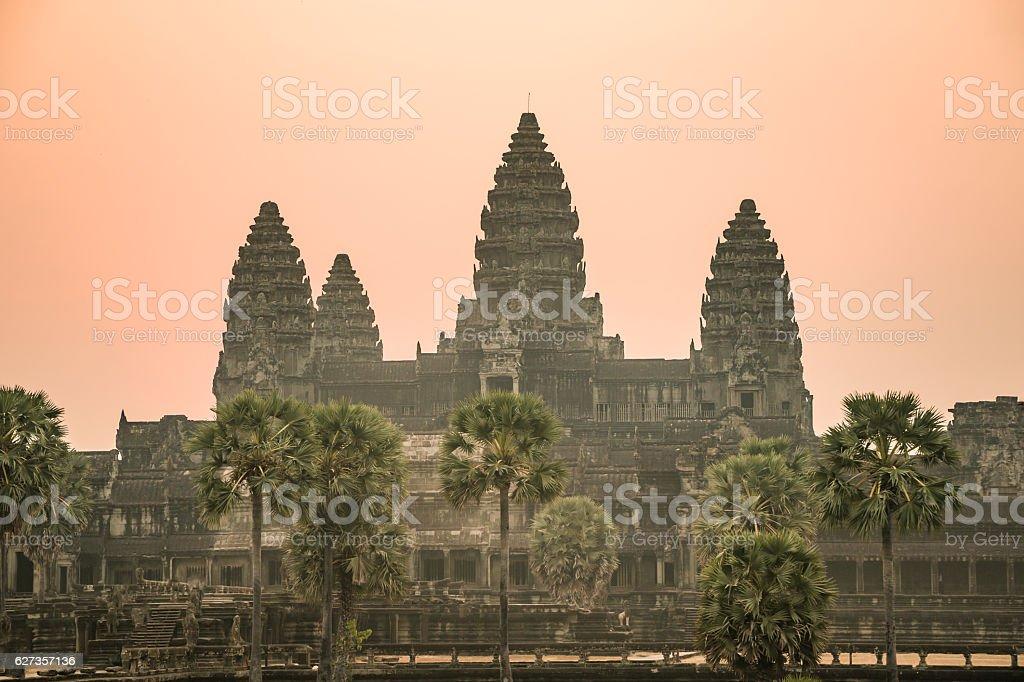 Sunrise in Angkor wat, Cambodia stock photo