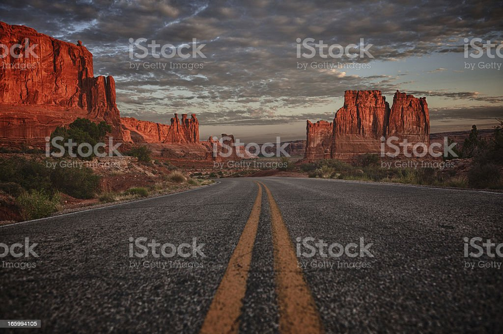 Sunrise in Arches National Park. royalty-free stock photo
