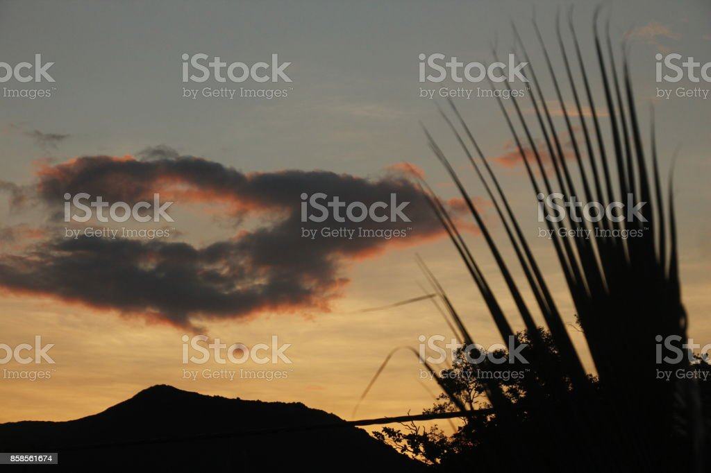 Sunrise in Asia stock photo