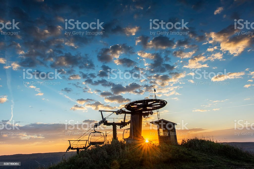 Sunrise in Autumn stock photo