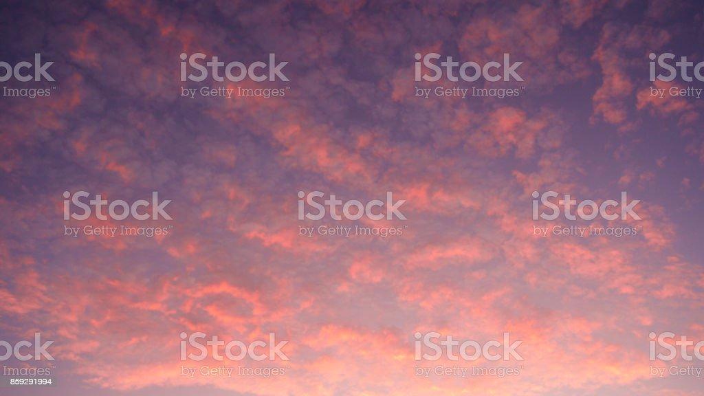 Sunrise in autumn stock photo