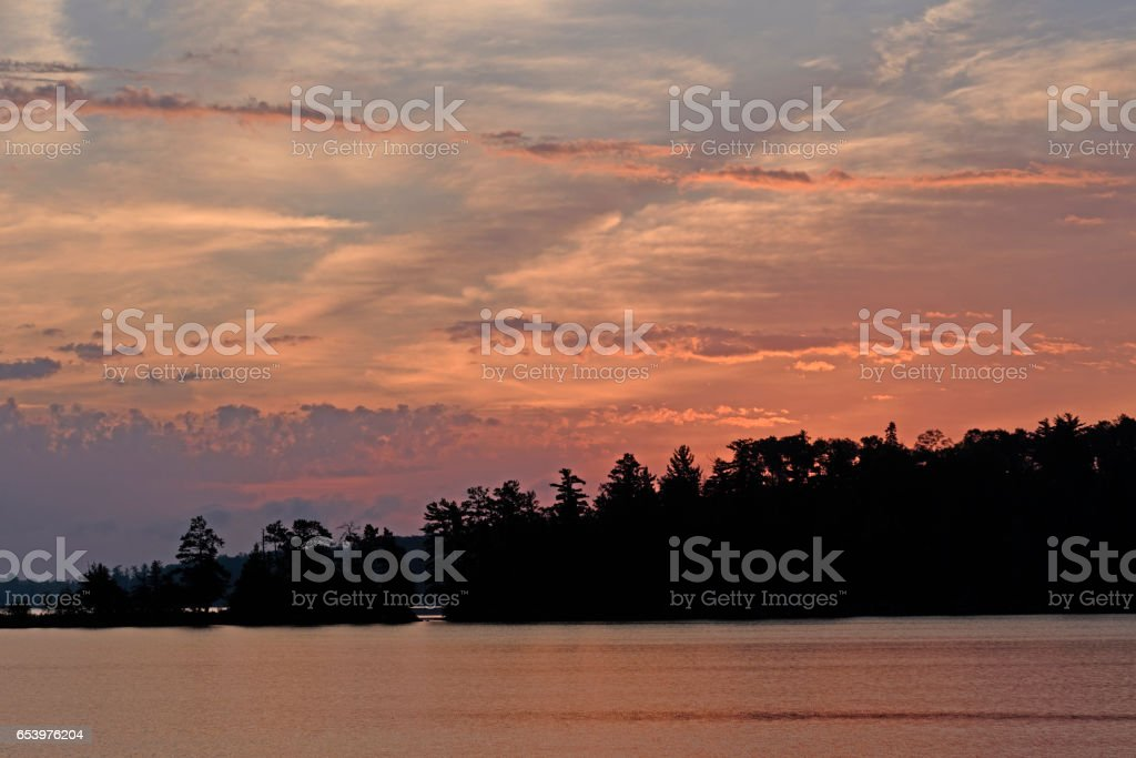 Sunrise in Canoe Country stock photo