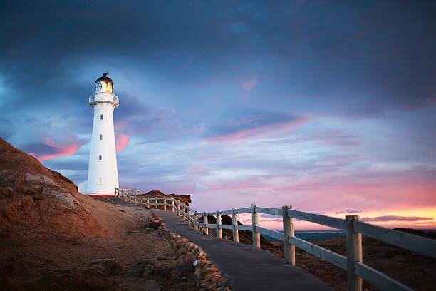 Sunrise in Castlepoint, New Zealand stock photo