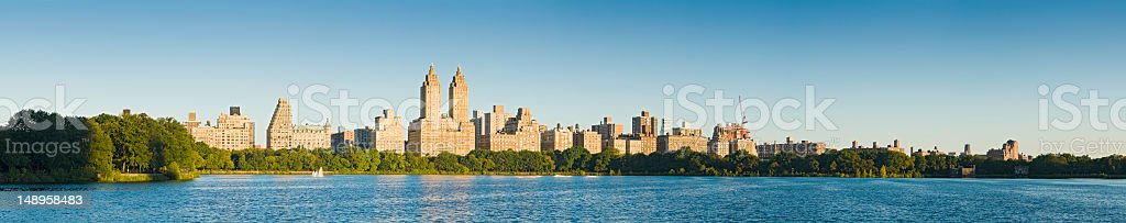 Sunrise in Central Park New York royalty-free stock photo