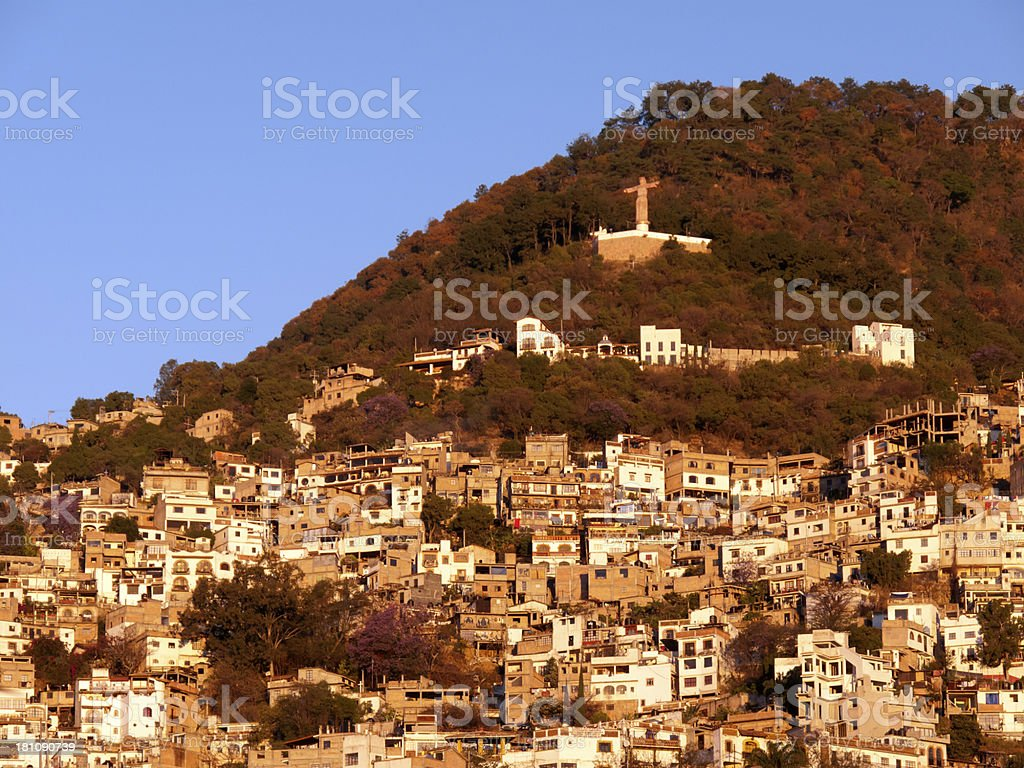 Sunrise in colonial Taxco, Mexico royalty-free stock photo