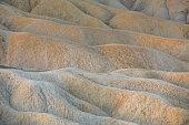 View of Zabriskie Point, a natural landmark in Death Valley National Park California.