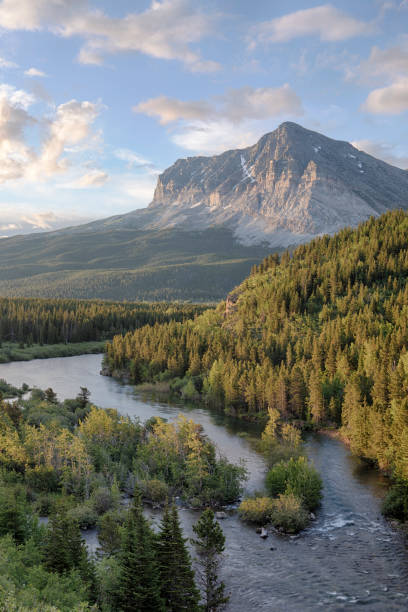 sunrise in glacier national park (united states) - montana western usa stock pictures, royalty-free photos & images
