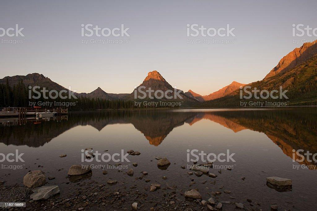 Sunrise in Glacier national park royalty-free stock photo