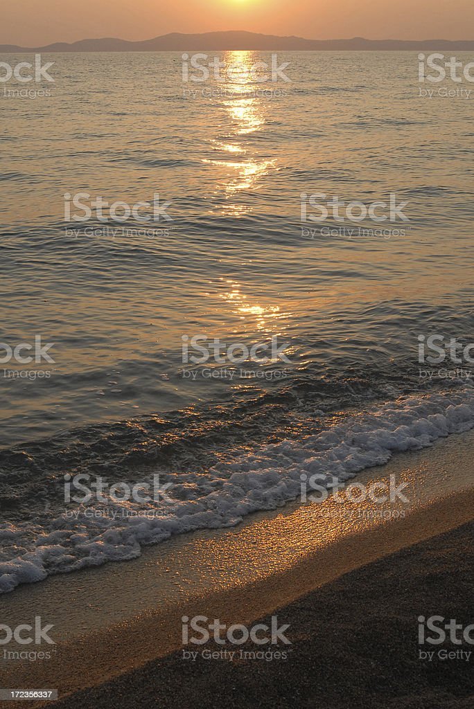 sunrise in Greece royalty-free stock photo