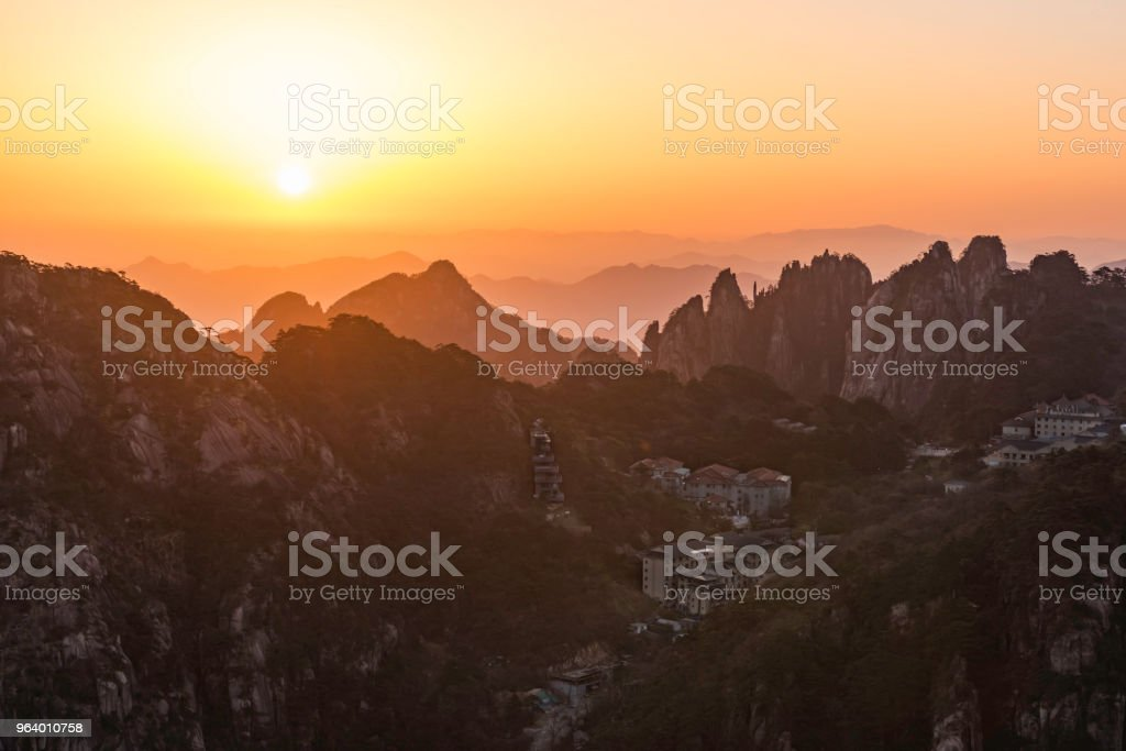 Sunrise in Huangshan mountains - Royalty-free Anhui Province Stock Photo