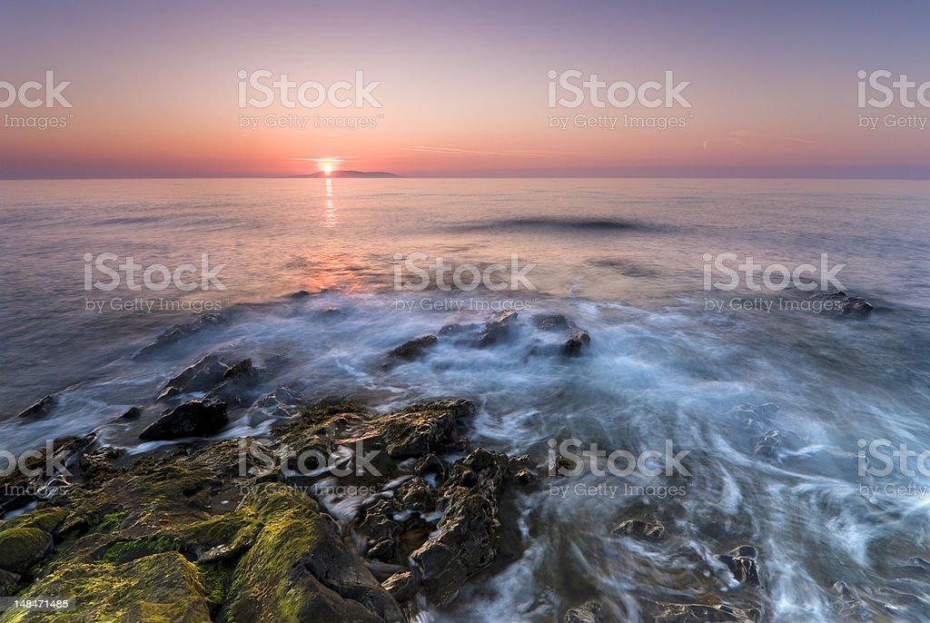 Sunrise in Ireland royalty-free stock photo