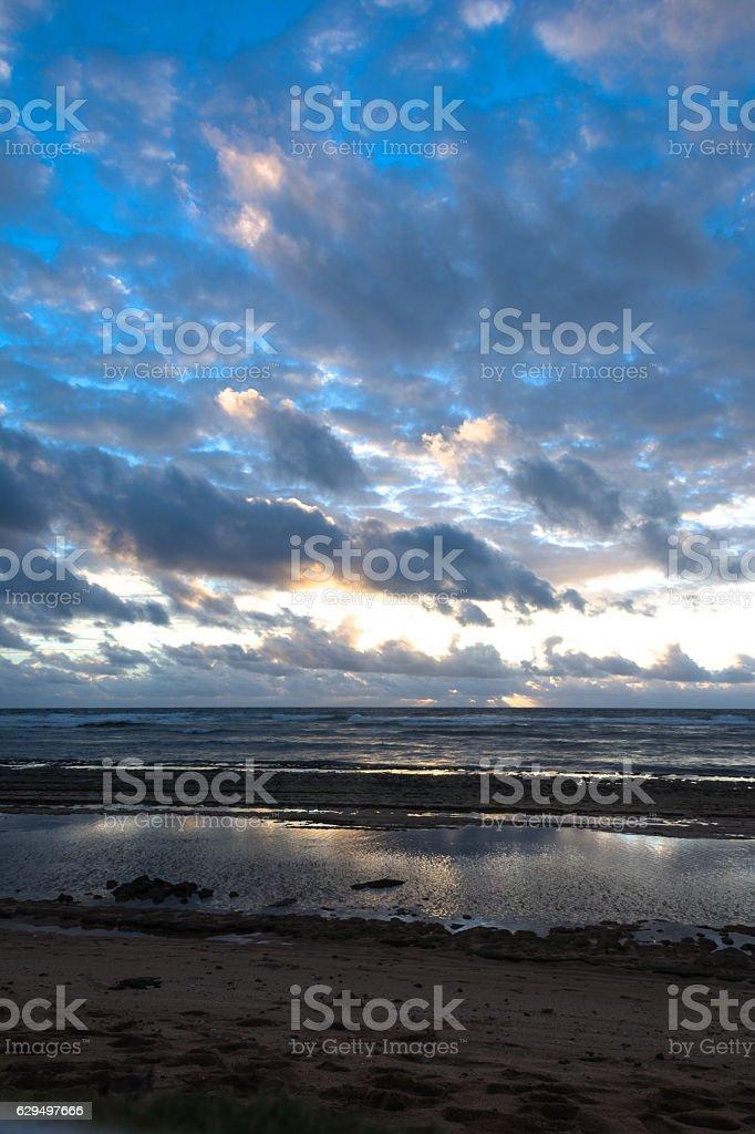 Sunrise in Kauai, Hawaii stock photo