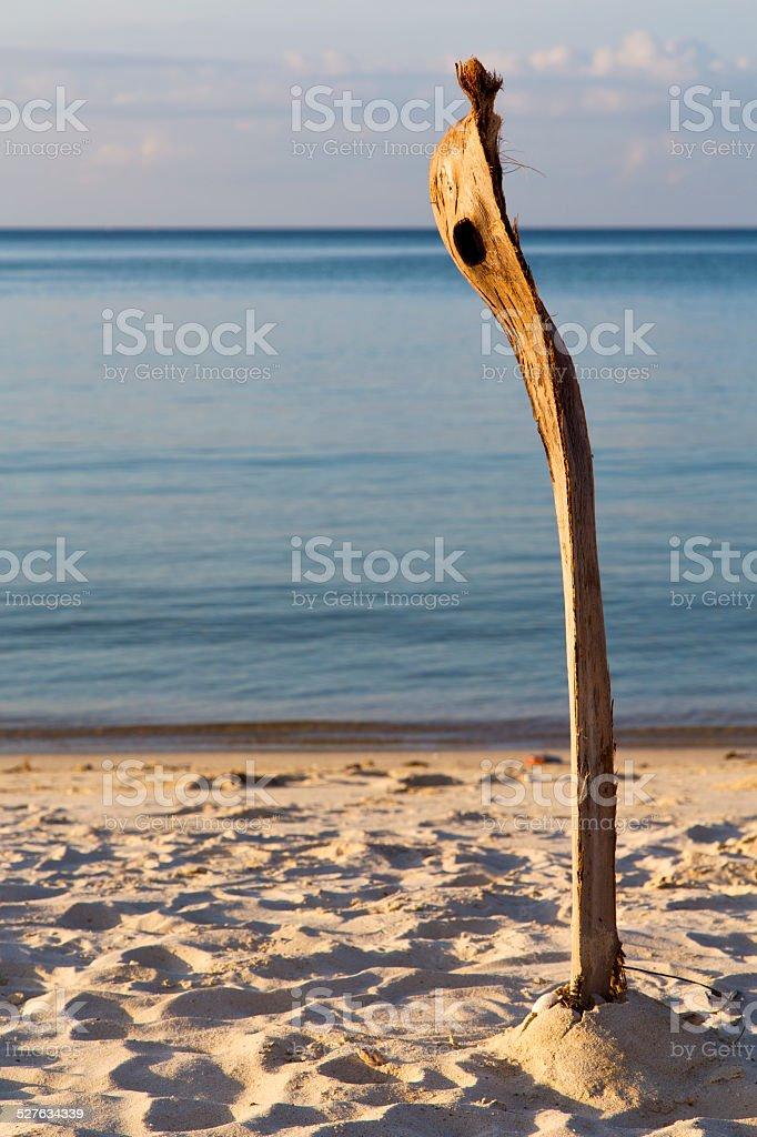 Amanecer en la isla kho phangan Tailandia a la bahía - foto de stock