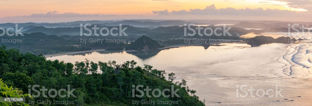 Sunrise in Kuta, Lombok, Indonesia stock photo