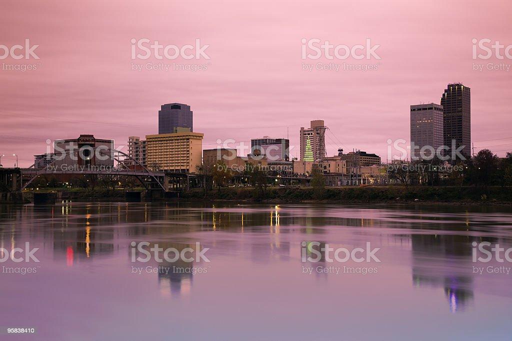 Sunrise in Little Rock stock photo