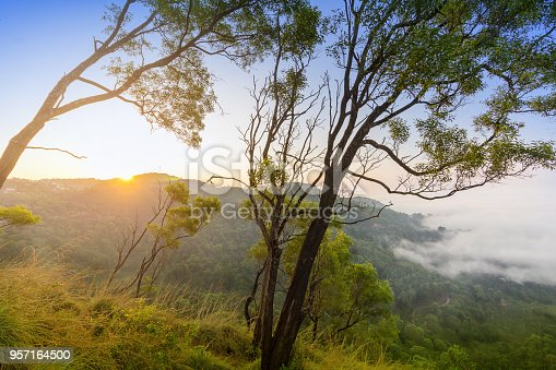 Morning scene from Madikeri. located in Kodagu, also known as Coorg, a rural district in the southwest Indian state of Karnataka.