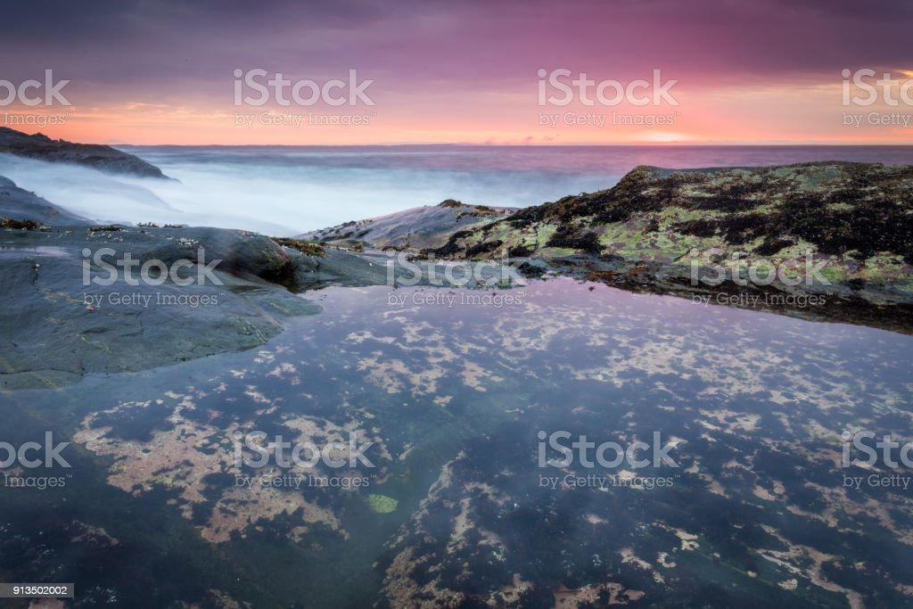 Sunrise in Maine, USA stock photo