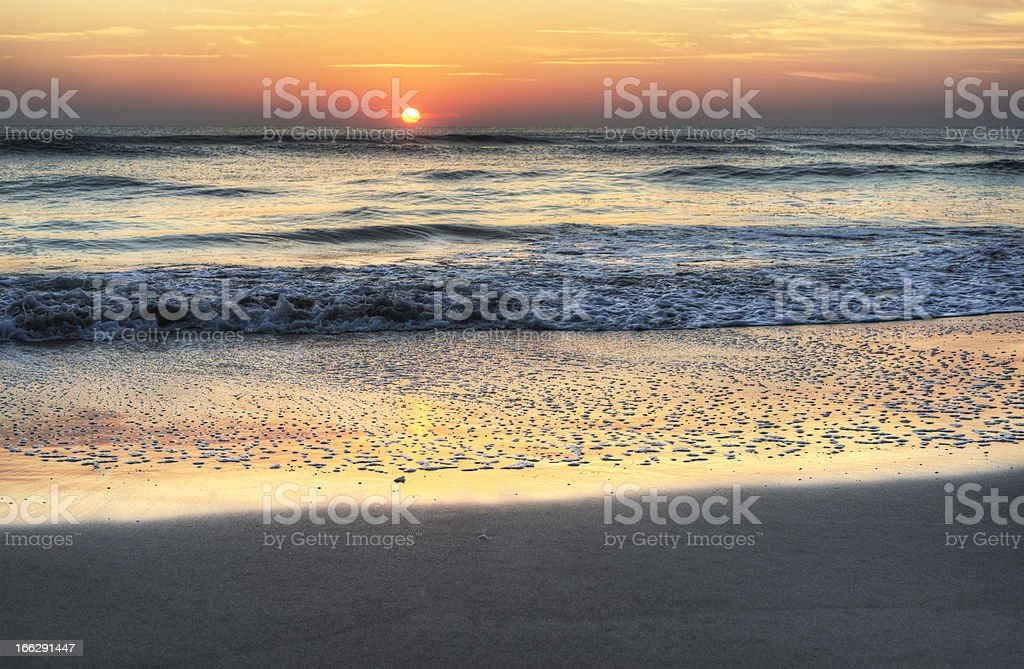Sunrise in Melbourne Beach royalty-free stock photo