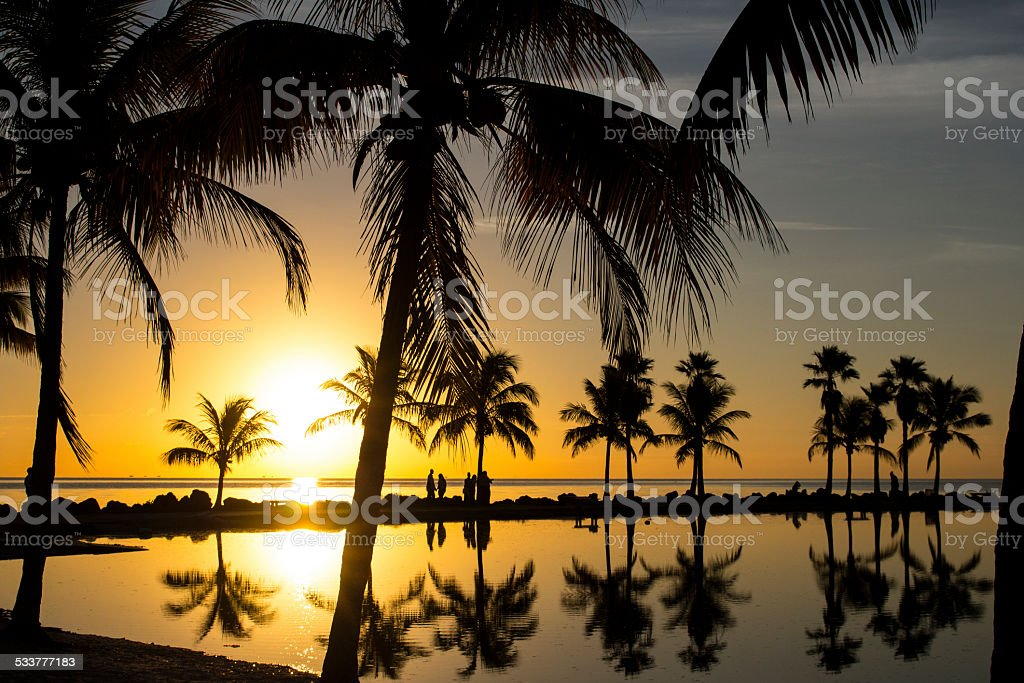 Sunrise in Miami stock photo