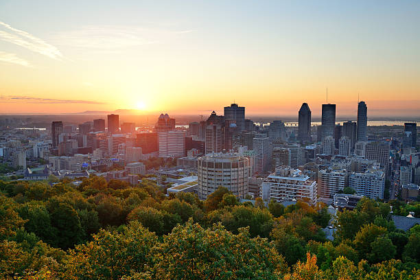 Sonnenaufgang in Montreal – Blick vom Mont-Royal – Foto
