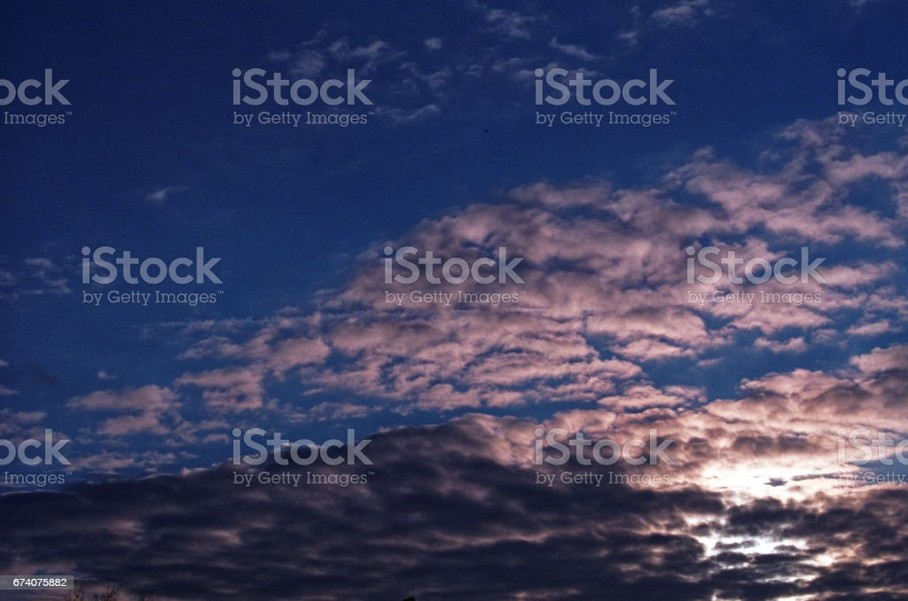 sunrise in Moscow in March royalty-free stock photo