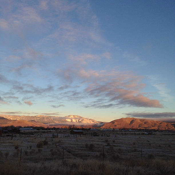 Sunrise in Northern Nevada stock photo