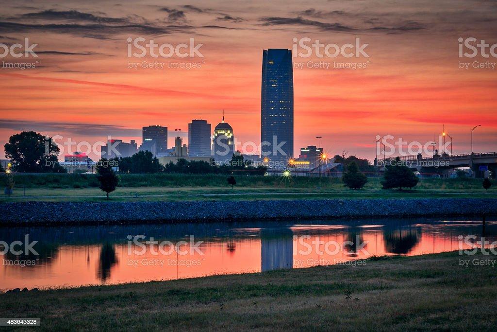 Sunrise in Oklahoma Sunrise overlooking downtown Oklahoma City. Oklahoma City Stock Photo