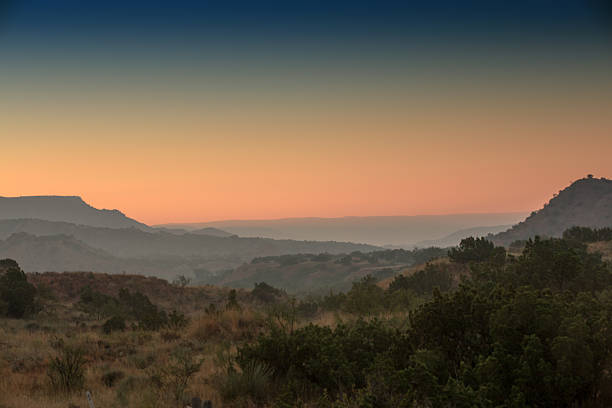Sunrise in Palo Duro Canyon, Texas stock photo