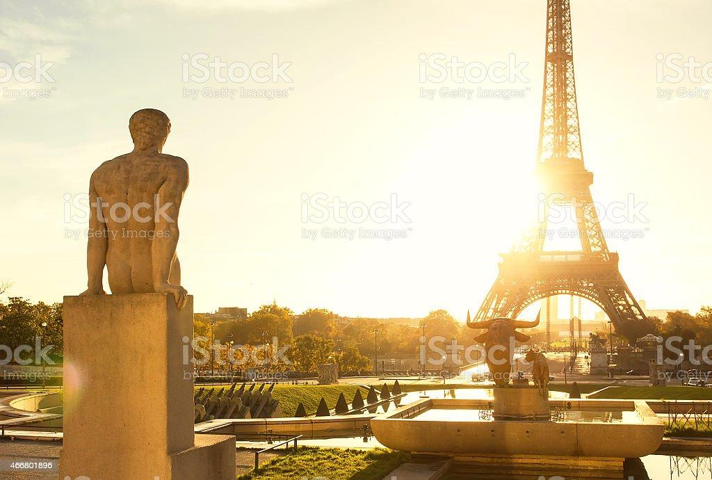Sunrise in Paris stock photo