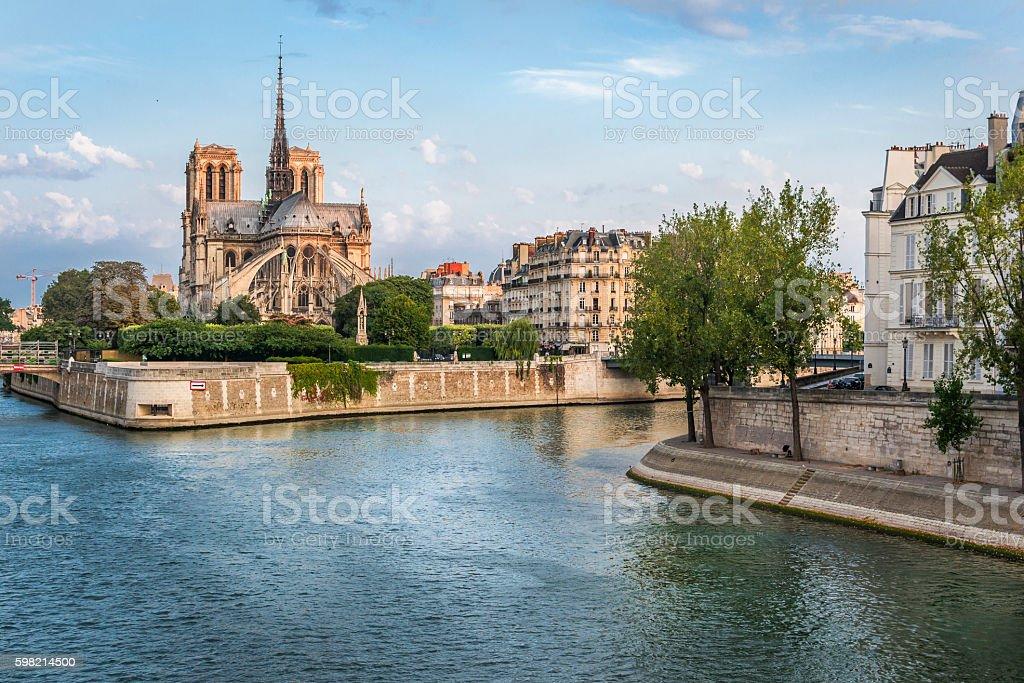 Nascer do sol em Paris foto royalty-free