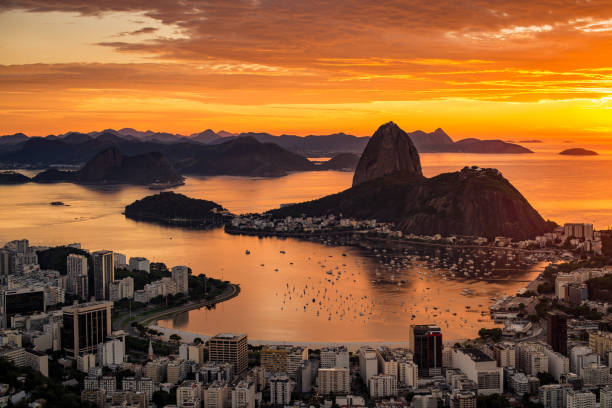Sunrise in Rio de Janeiro stock photo
