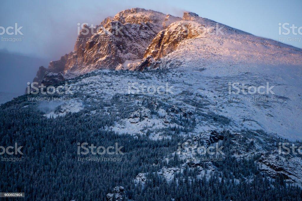 Sunrise in Rocky Mountain National Park stock photo