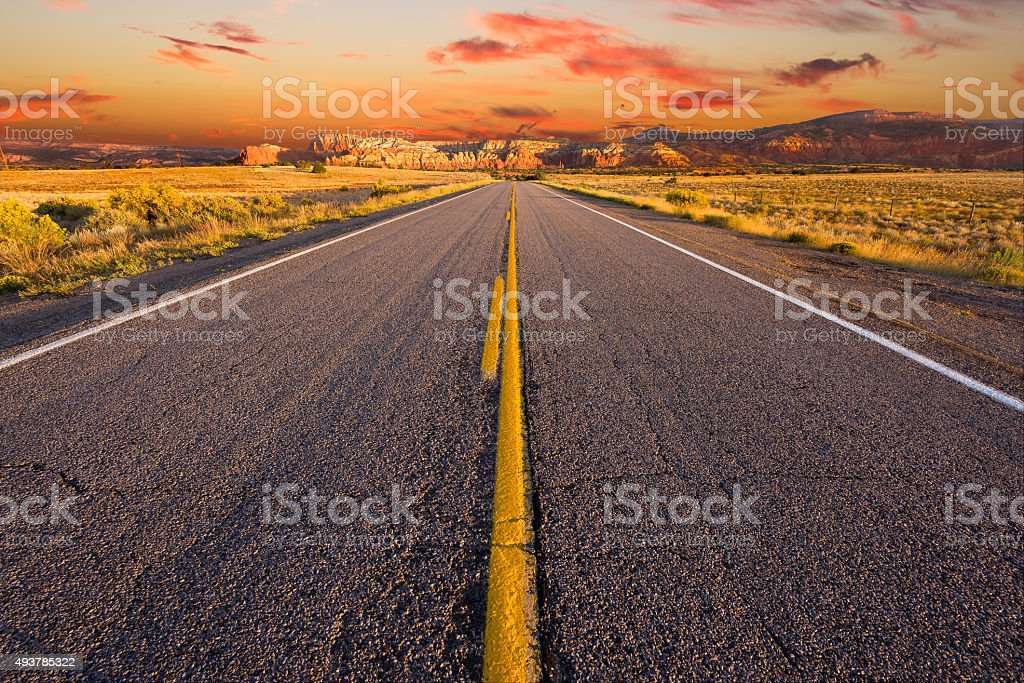 Sunrise in Rural Northern New Mexico stock photo