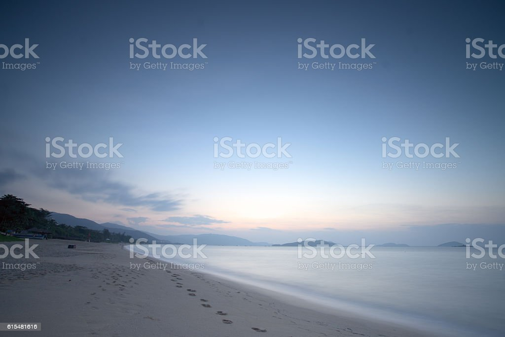 sunrise in sanya stock photo
