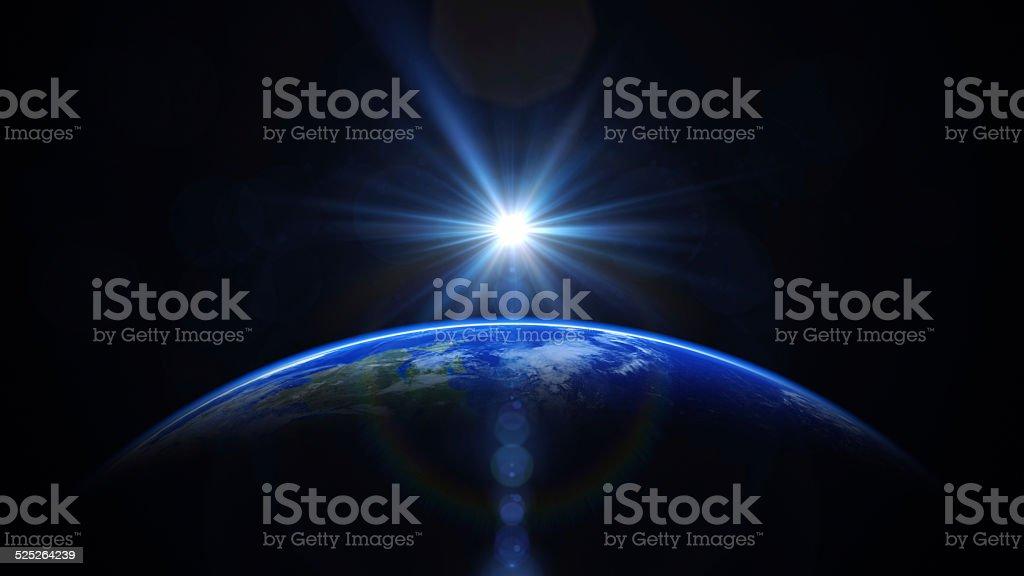 Lever du soleil dans l'espace - Photo