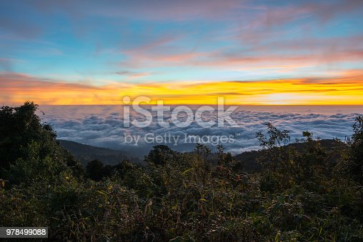istock Sunrise in Thailand, Good view form north of Thailand. 978499088
