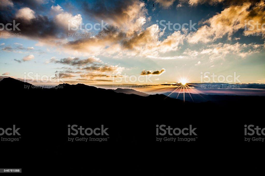 Sunrise in Thailand stock photo