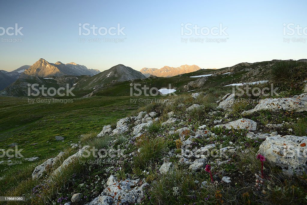 Sunrise in the Alps royalty-free stock photo