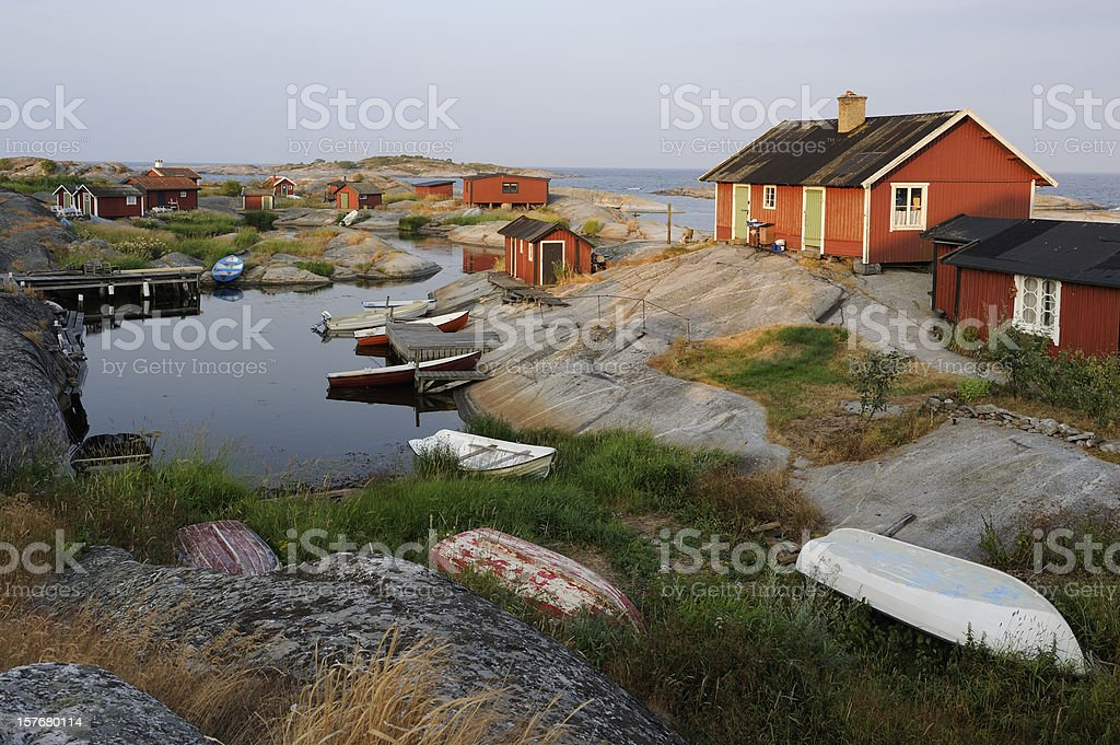 Sunrise in the archipelago royalty-free stock photo