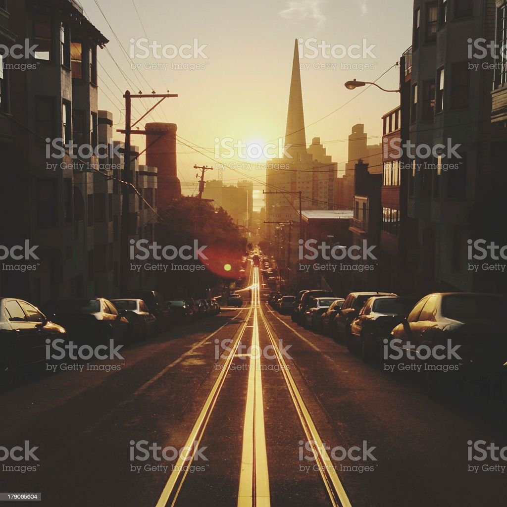Sunrise in The City stock photo