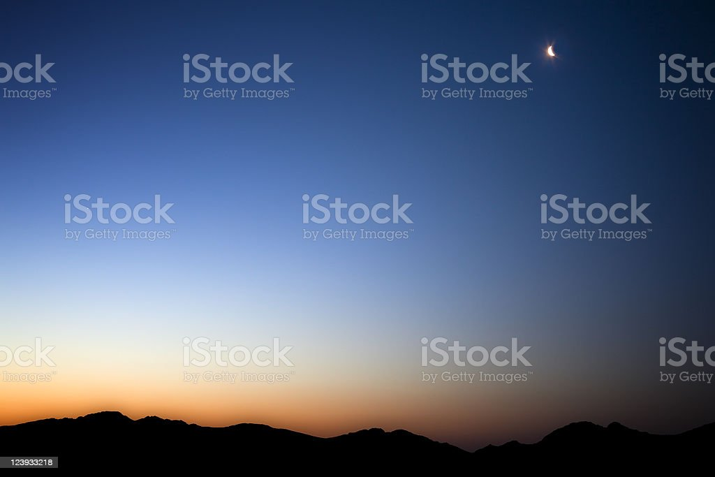 Sunrise in the Death Valley royalty-free stock photo