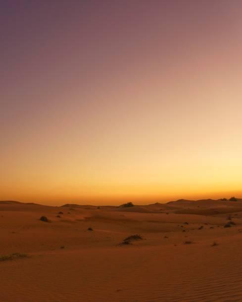 Sonnenaufgang in der Wüste des Nahen Ostens – Foto