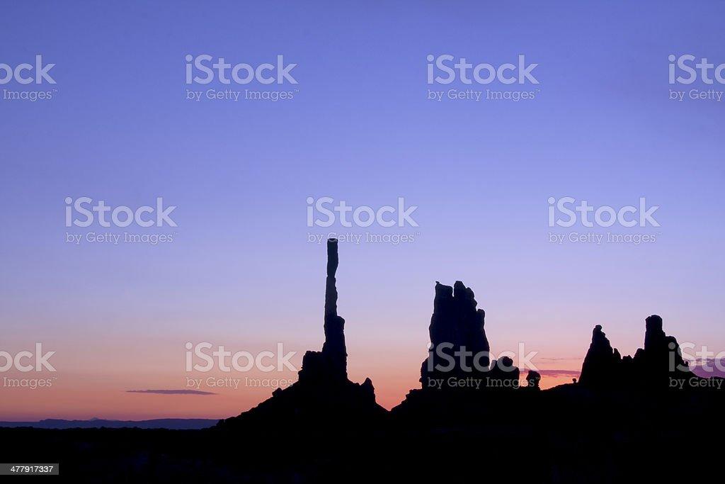 Sunrise in the Desert royalty-free stock photo