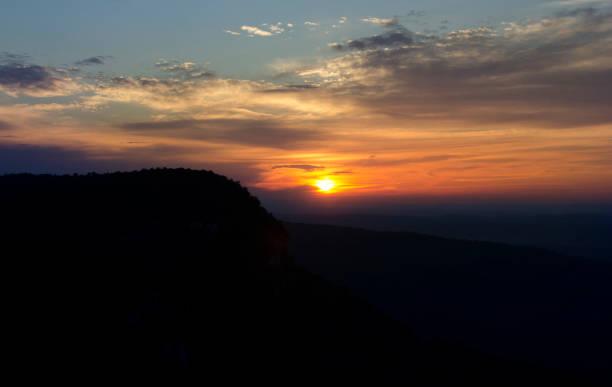 Sunrise in The Gunks stock photo