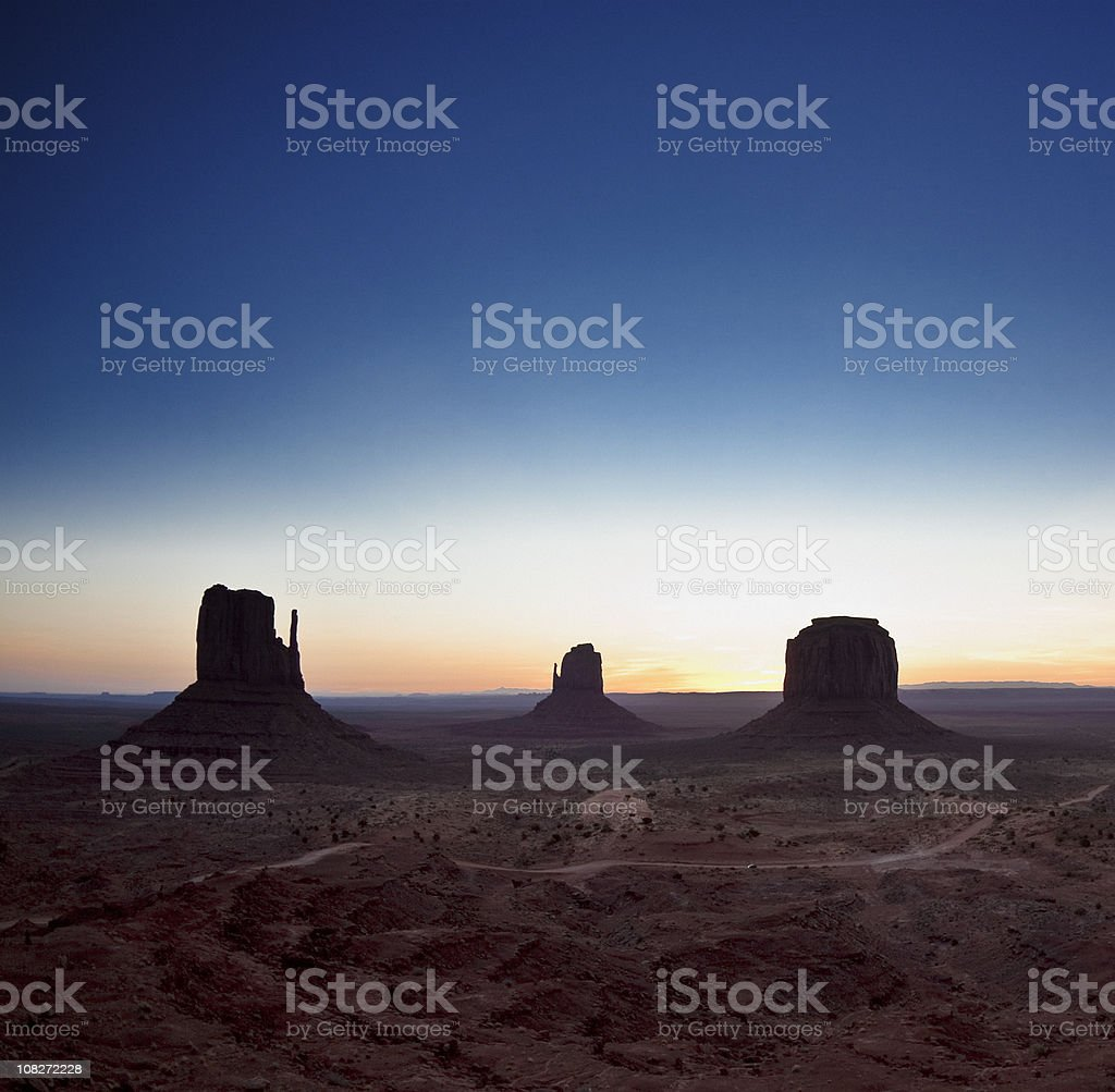 Sunrise in the Monument Valley royalty-free stock photo
