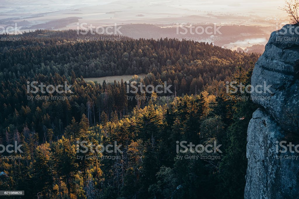 Alba in montagna  foto stock royalty-free