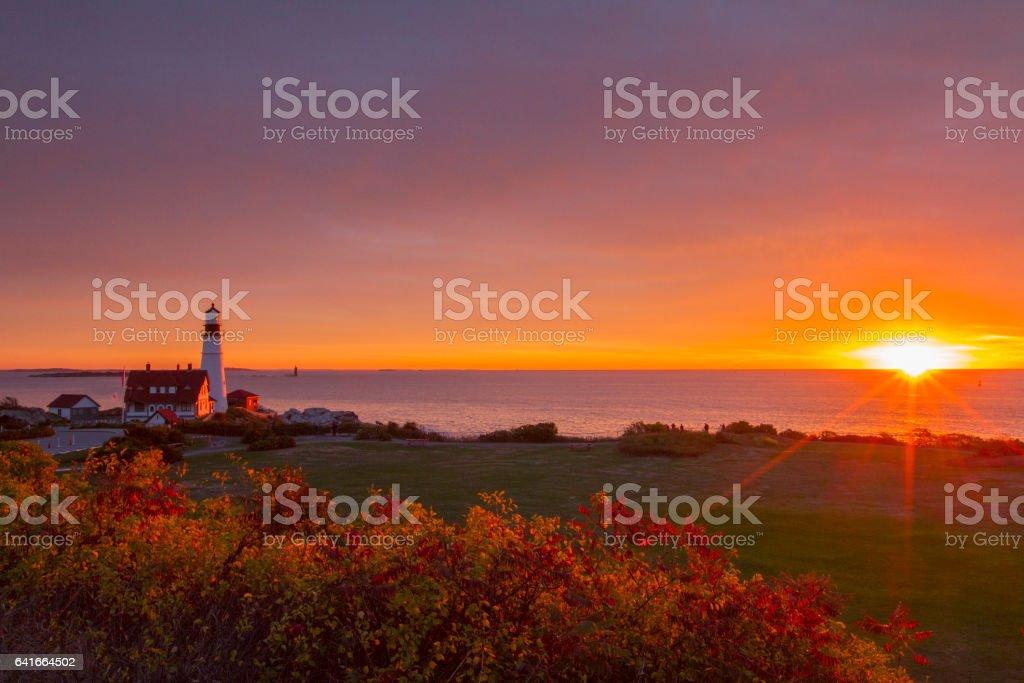 Sunrise in the stock photo