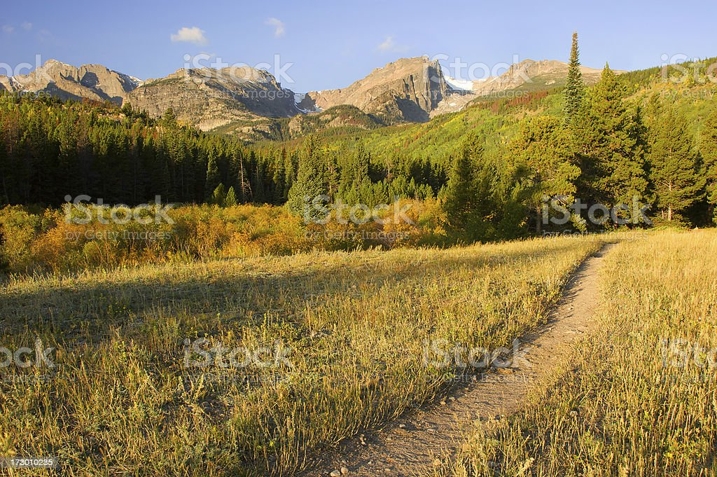 Sunrise in the Rockies royalty-free stock photo