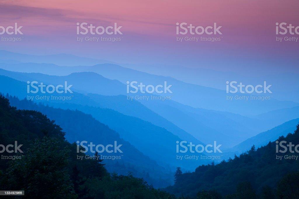 Sunrise in the Smokies royalty-free stock photo
