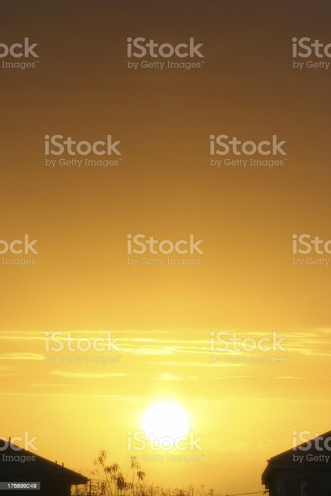 Sunrise in the Turks and Caicos royalty-free stock photo